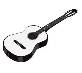 Гитара акустическая белая