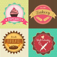 Set of bakery emblems