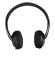 Wireless earphones isolated against white.