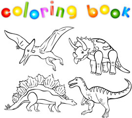 Coloring book of dinosaurs