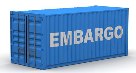 Эмбарго (embargo). Надпись на грузовом контейнере Wall mural