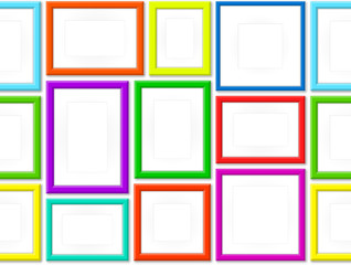 Set Of Colorful Photo Frames