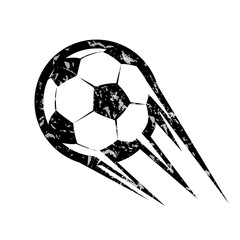 soccer ball, football vector symbol, in grunge style