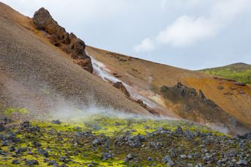 Panorama of Icelandic mountains