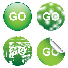 Decorative GO Sign
