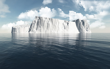 3D icebergs in the ocean