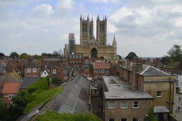la ville de Lincoln et sa cathédrale, Angleterre