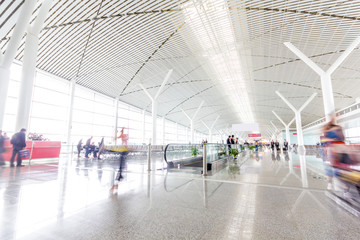 the shanghai pudong airport.interior of the airport.