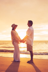 Mature Couple Enjoying Sunset