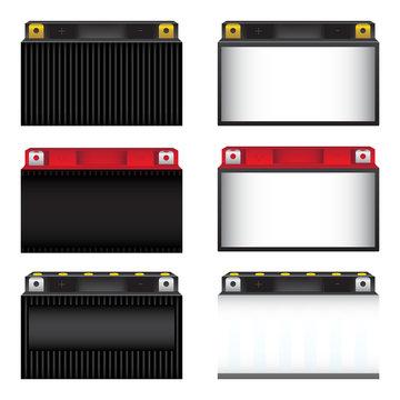 Battery Set Vector