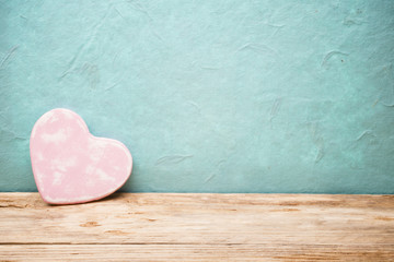 Valentines Day background with hearts.