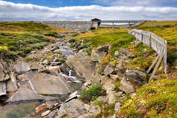 Wall Mural - Norwegia , tama, krajobraz wiejski
