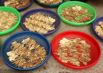 Chinese Herbs Drying in the Sun