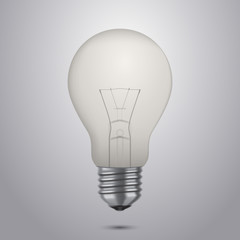 Vector illustration of classic light bulb