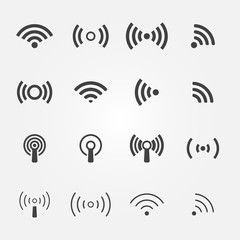 Fototapeta Wireless icons set - vector WiFi symbols obraz