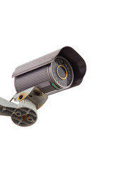 Security Camera CCTV With Isolated white background