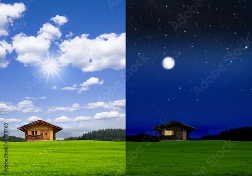 blockh tte bei tag und bei nacht stockfotos und lizenzfreie bilder auf bild 69811768. Black Bedroom Furniture Sets. Home Design Ideas