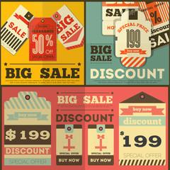 Fotobehang Vintage Poster Sale Tags