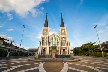 Cathedral in Chanthaburi province, Thailand.