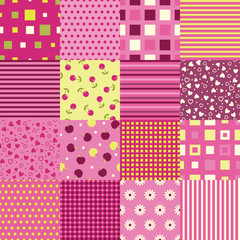 Girls seamless backgrounds