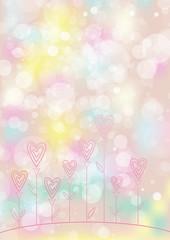 Valentines love flower background