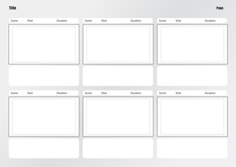 Professional of film storyboard template