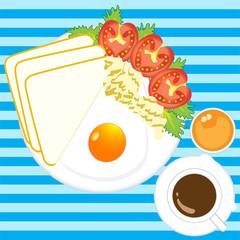 Illustration  of  morning  breakfast  vector