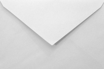 close - up empty white paper envelope