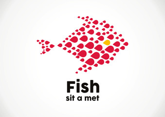 fish illustration logo vector