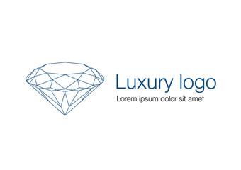 Luxury logo, diamond logotype