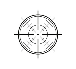 crosshair on white background