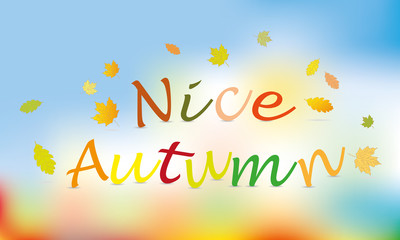 nice autumn color background vector
