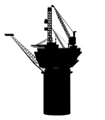 Silhouette of an Oil Platform
