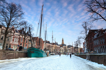 Winter landscape of a city