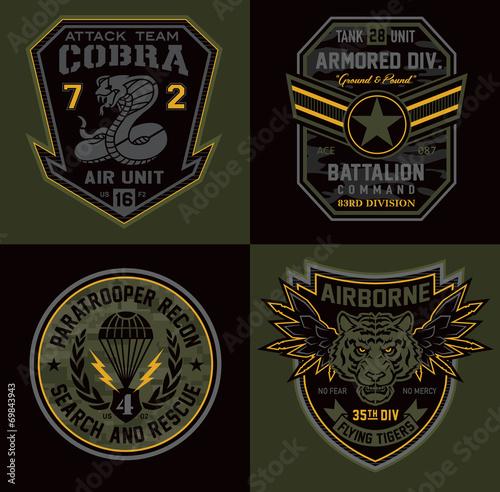 Special unit military patch emblems\