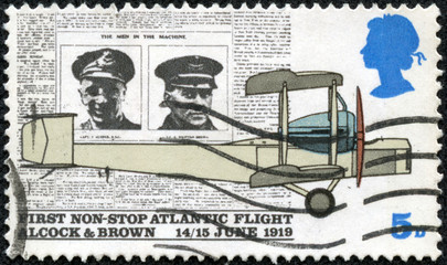 Alcock, Brown, Daily Mail and Vickers Vimy Plane