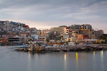 Evening scenery in the Mikrolimano marina, Piraeus, Athens.