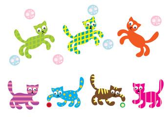 kolorowe kotki