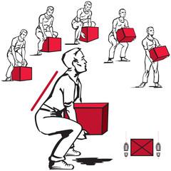 Safe handling of heavy items: men