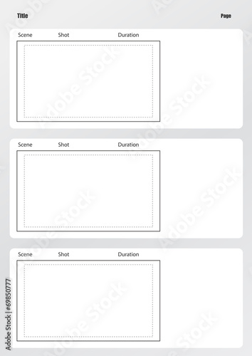 Professional of film storyboard template vertical stock image and professional of film storyboard template vertical maxwellsz