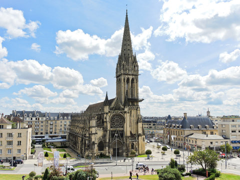 Church of Saint-Pierre in Caen city, France