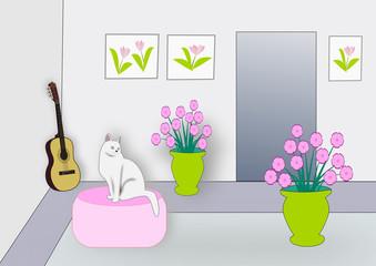 Interior with Cat