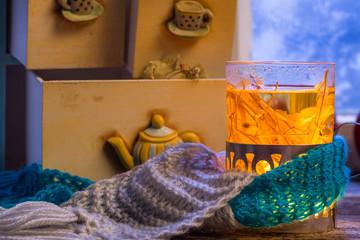 Wall Mural - Hot linden tea is the best in winter