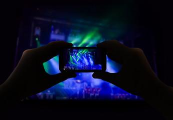 filming a concert