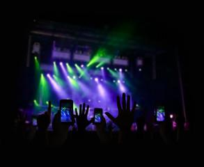 enjoying a concert