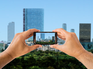 shoot photography the city with smart phone