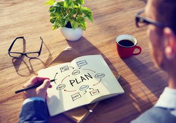 Obraz Businessman Brainstorming About Planning - fototapety do salonu