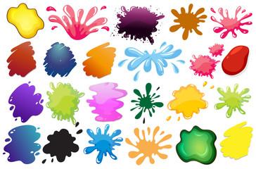 Painting ink splashes