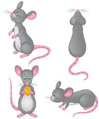 niedliche Mäuse Set Sammlung Kollektion