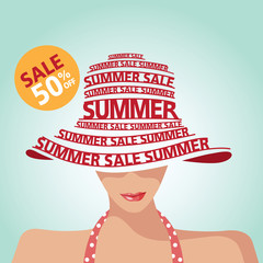 Summer Sale,Swimming Suit,Shopping and Typography